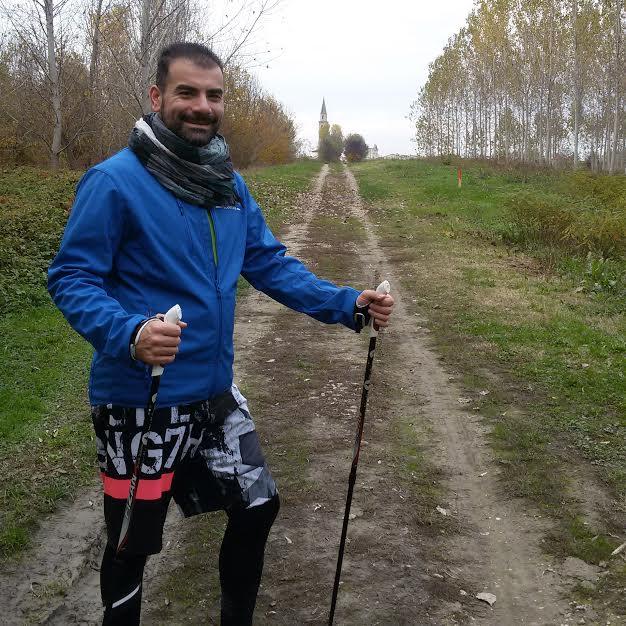 Nordic walking sugli argini del Po